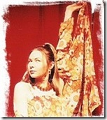 Kellie as Jacqui Potts in the 2002 Circle X Theatre production of An American Book of the Dead - The Game Show