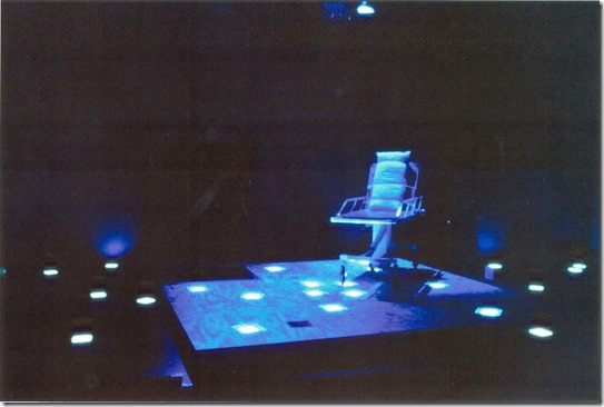 The set for LOUIS SLOTIN SONATA in its world premiere by Circle X Theatre Company, Los Angeles, 1999.