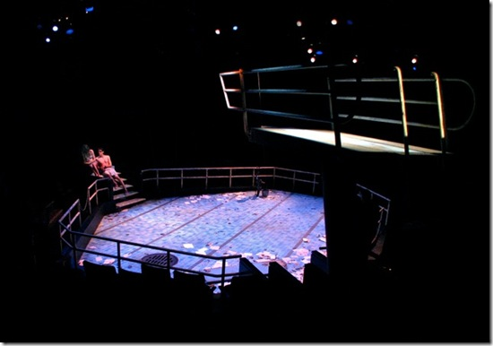 Diving board for the set of ACT's EURYDICE by Matthew Smucker, photo by Matthew Smucker
