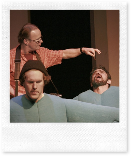 """Feed the Twitter Feed"" back) Joseph P. McCarthy (front)  Brian Thomas Gould and Robert Agostinelli,  Photo by Chris Bennion"