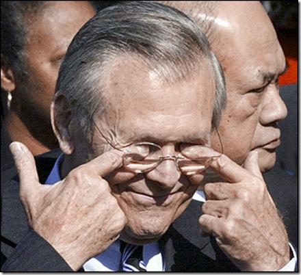 rumsfeld poking his eyes out
