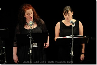 Lesliel Law and Heather Curtis Mullin singing their gorgeous duet