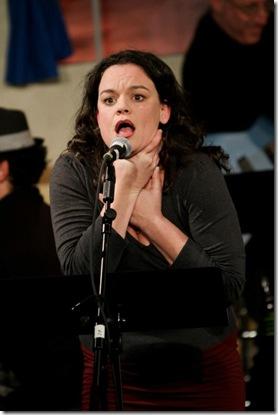 Katryn Van Meter as Mara, the Demon Choker Getting Glowed to Choke herself