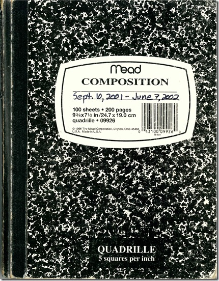 Nine Eleven Notebook