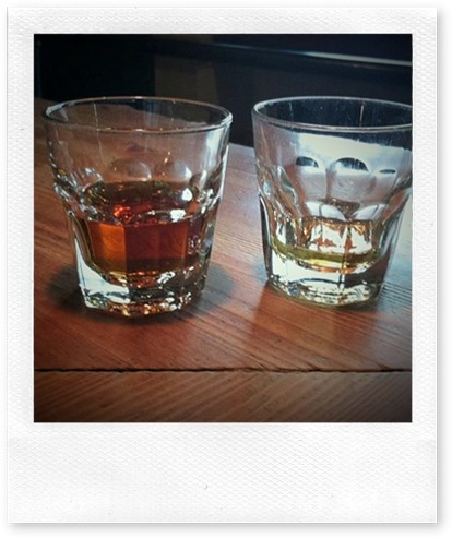Two Scotches on a bar Cropped